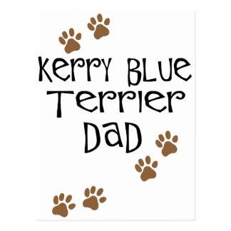Papá de Terrier de azul de Kerry Tarjetas Postales