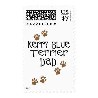 Papá de Terrier de azul de Kerry Timbres Postales