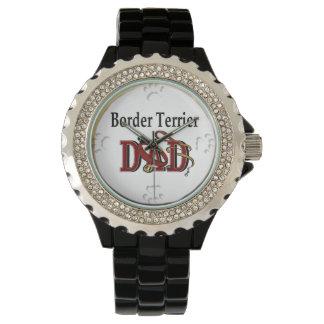 Papá de Terrier de frontera Relojes De Pulsera
