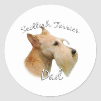 Papá (de trigo) 2 de Terrier del escocés Pegatinas Redondas