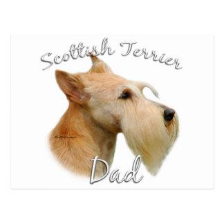 Papá (de trigo) 2 de Terrier del escocés Tarjeta Postal