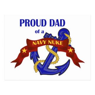 Papá de un arma nuclear de la marina de guerra tarjetas postales
