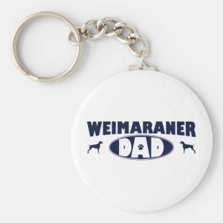 Papá de Weimaraner Llavero Personalizado