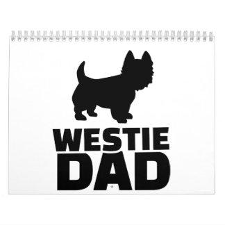 Papá de Westie Calendario