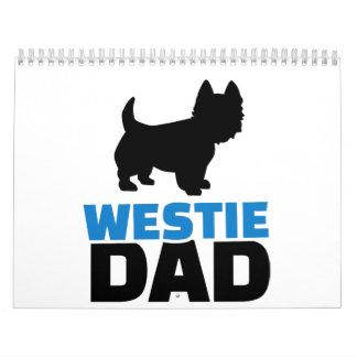 Papá de Westie Calendarios De Pared