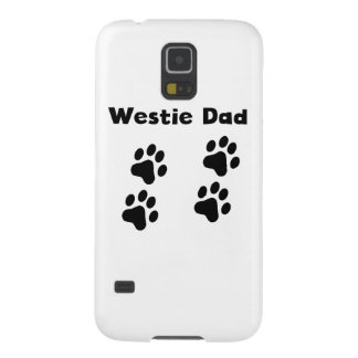 Papá de Westie Carcasas De Galaxy S5