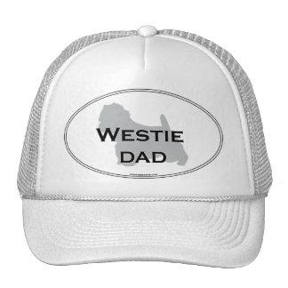 Papá de Westie Gorros Bordados