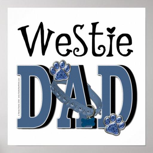 PAPÁ de Westie Poster