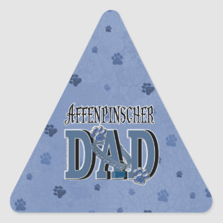 PAPÁ del Affenpinscher Calcomanías Triangulos Personalizadas