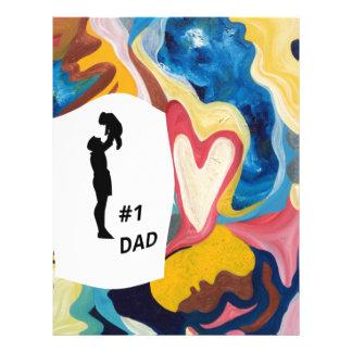 Papá del amor #1 plantilla de membrete