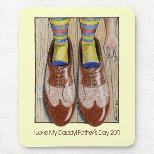 Papá del amor de los zapatos I del papá del día de Tapete De Ratones
