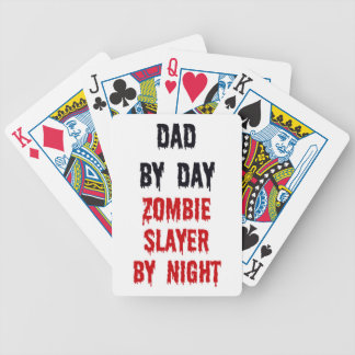 Papá del asesino del zombi del día por noche baraja cartas de poker