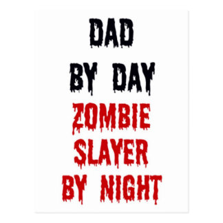 Papá del asesino del zombi del día por noche tarjeta postal
