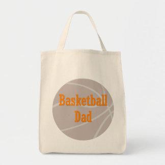 Papá del baloncesto bolsas lienzo