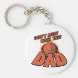 Papá del baloncesto llavero personalizado