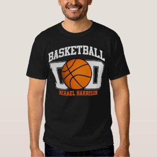 Papá del baloncesto (oscuro) remeras