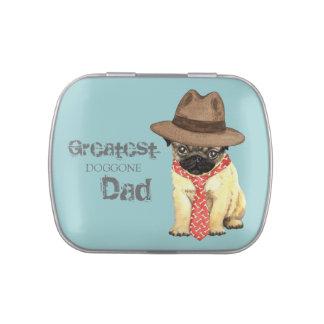 Papá del barro amasado frascos de dulces