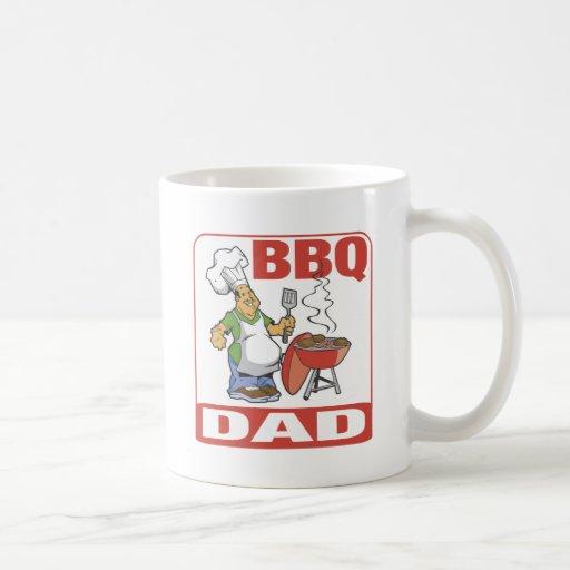 Papá del Bbq Tazas De Café