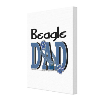 PAPÁ del beagle Impresiones En Lienzo Estiradas