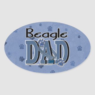 PAPÁ del beagle Pegatina Ovalada