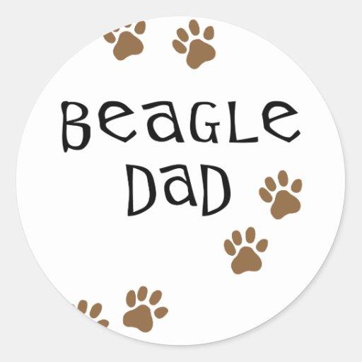 Papá del beagle pegatina redonda