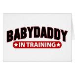 Papá del bebé en el entrenamiento felicitación