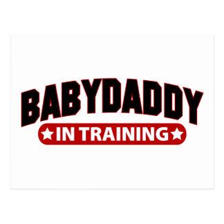 Papá del bebé en el entrenamiento postales