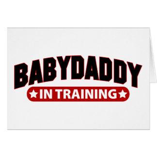 Papá del bebé en el entrenamiento tarjeta de felicitación