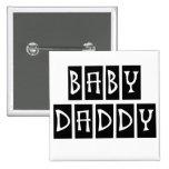 Papá del bebé pin cuadrado