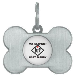 Papá del bebé querido placas de mascota