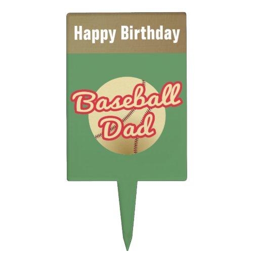 Papá del béisbol del feliz cumpleaños decoraciones de tartas