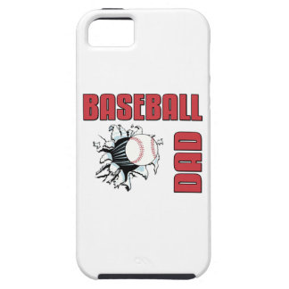 Papá del béisbol funda para iPhone 5 tough