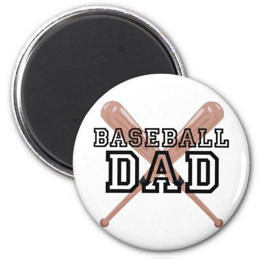 Papá del béisbol imanes