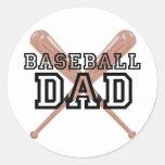 Papá del béisbol pegatinas redondas
