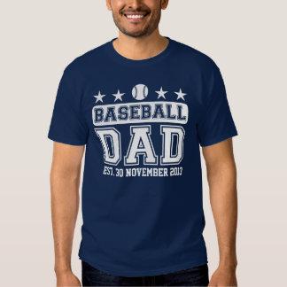 Papá del béisbol playeras