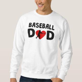Papá del béisbol pull over sudadera