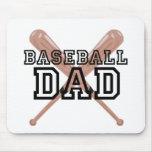 Papá del béisbol tapete de ratón