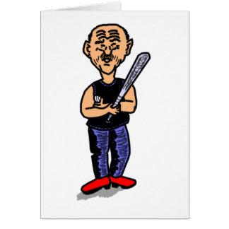 Papá del béisbol tarjeta de felicitación