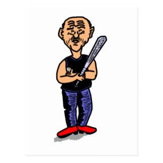 Papá del béisbol tarjetas postales