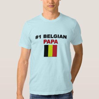 Papá del belga #1 camisas