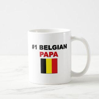Papá del belga #1 taza clásica