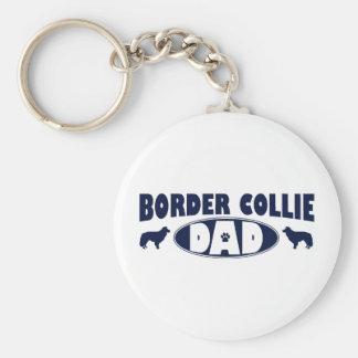 Papá del border collie llaveros personalizados