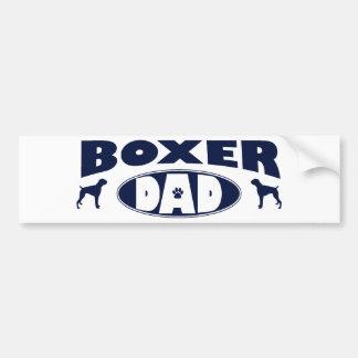 Papá del boxeador etiqueta de parachoque
