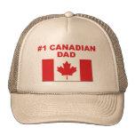 Papá del canadiense #1 gorras de camionero