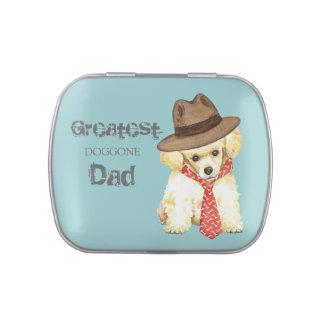 Papá del caniche de juguete jarrones de dulces