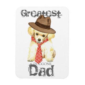 Papá del caniche de juguete rectangle magnet