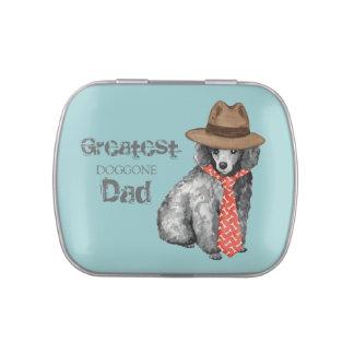 Papá del caniche miniatura latas de caramelos
