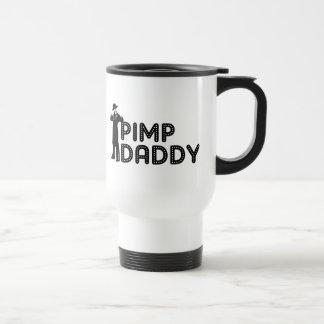 Papá del chulo taza de viaje de acero inoxidable