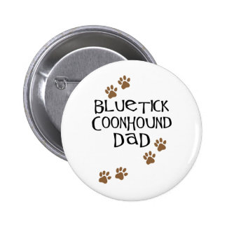 Papá del Coonhound de Bluetick Pin Redondo 5 Cm