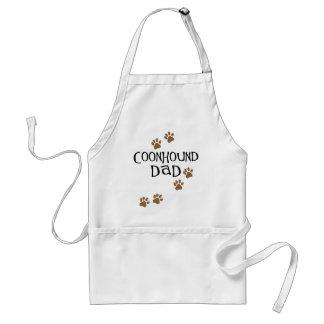 Papá del Coonhound Delantales